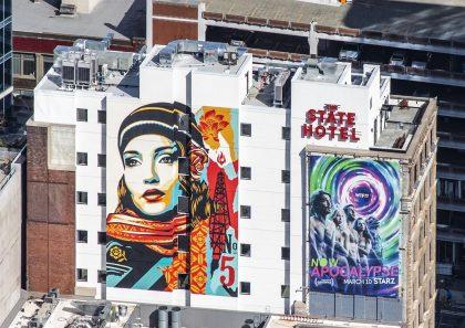 Mural by street artist Shepard Fairey