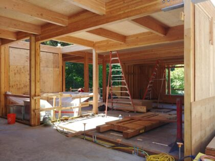 Exposed Glulam Placement